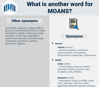 moans, synonym moans, another word for moans, words like moans, thesaurus moans