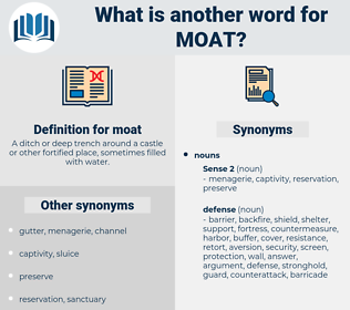 moat, synonym moat, another word for moat, words like moat, thesaurus moat
