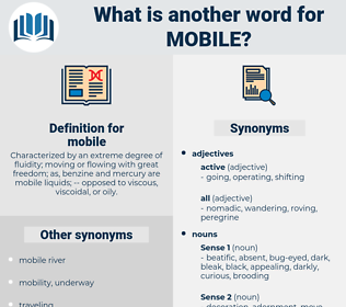 Synonyms for MOBILE, Antonyms for MOBILE - Thesaurus net