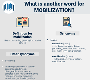 mobilization, synonym mobilization, another word for mobilization, words like mobilization, thesaurus mobilization