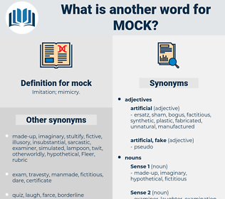 mock, synonym mock, another word for mock, words like mock, thesaurus mock