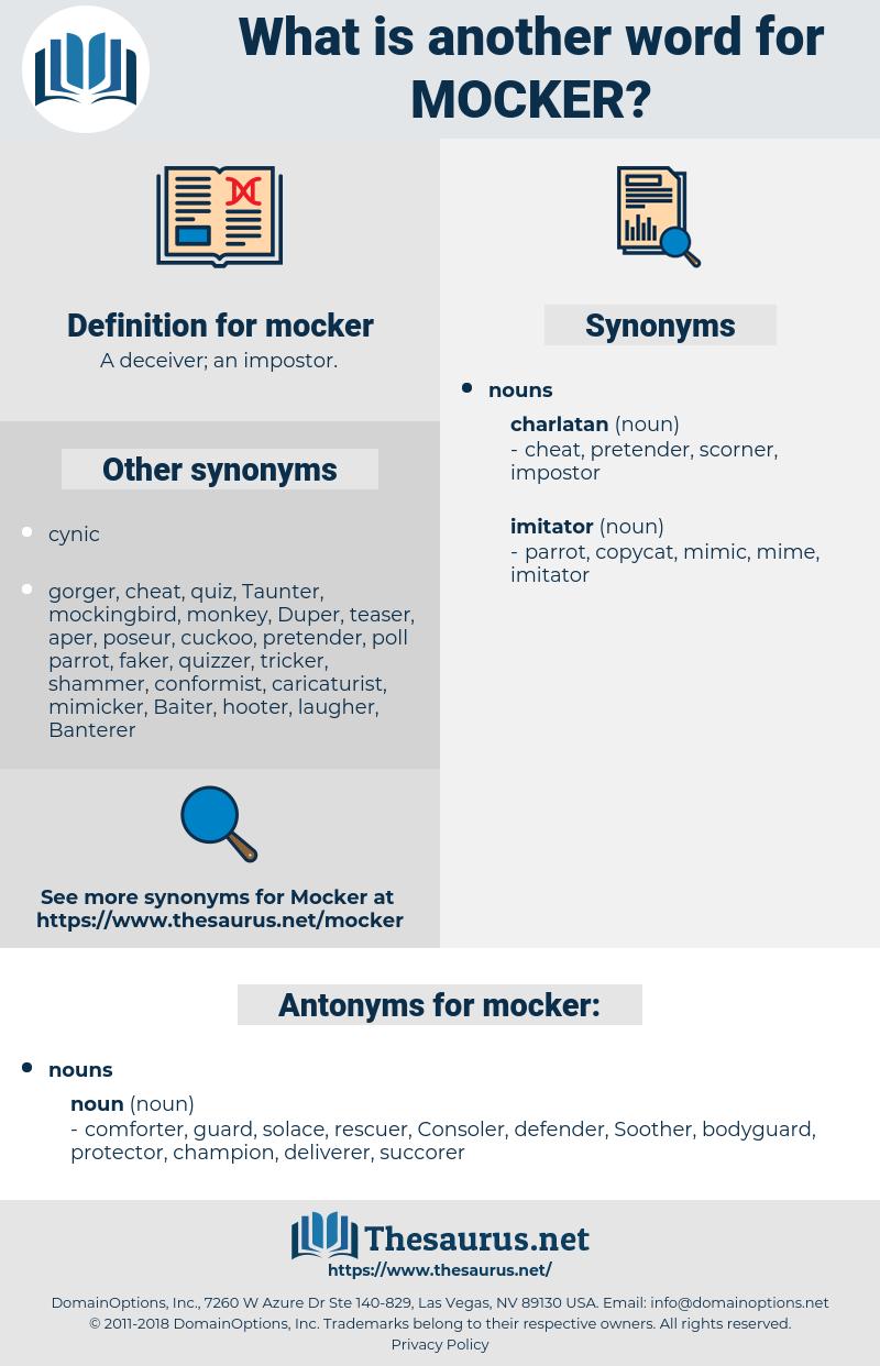 mocker, synonym mocker, another word for mocker, words like mocker, thesaurus mocker