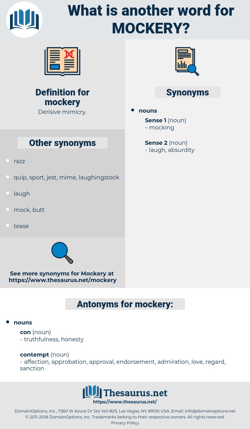 mockery, synonym mockery, another word for mockery, words like mockery, thesaurus mockery