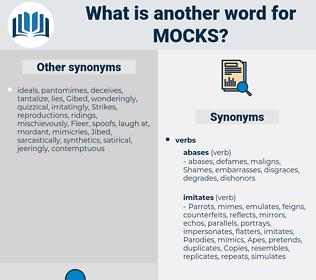mocks, synonym mocks, another word for mocks, words like mocks, thesaurus mocks