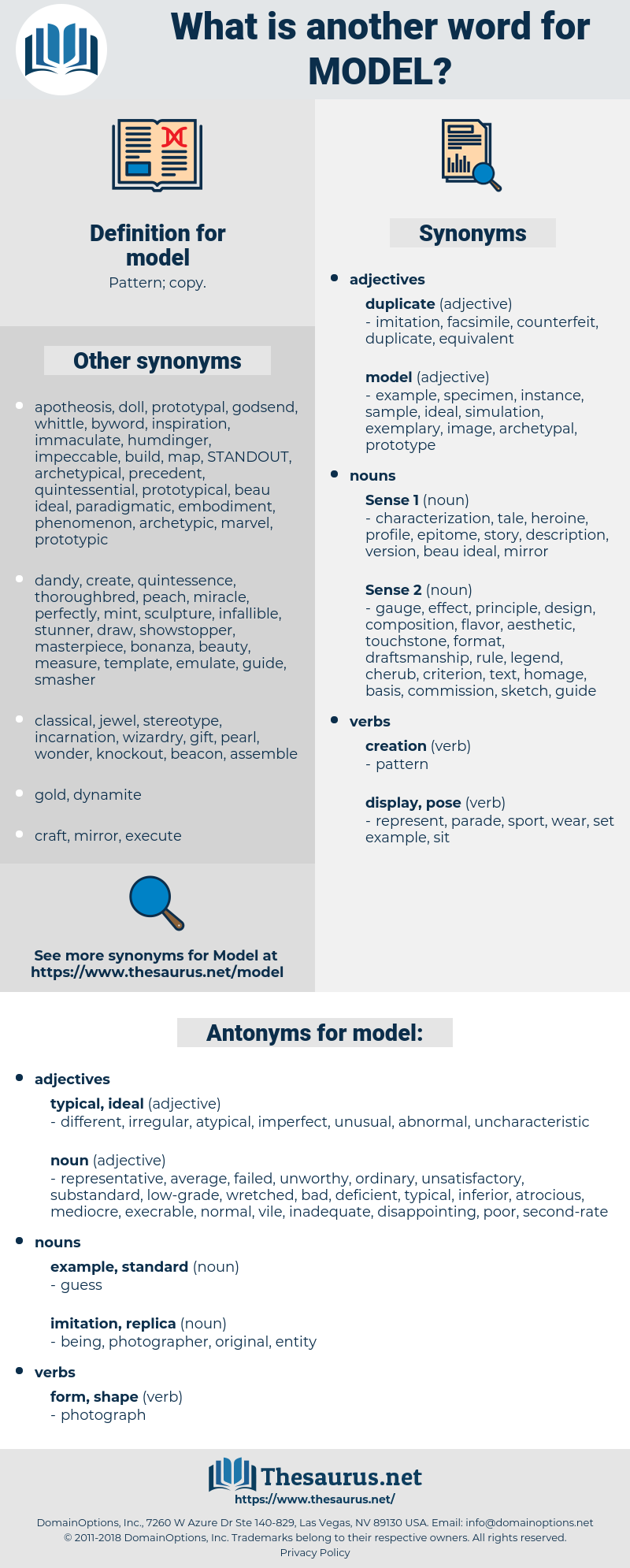 model, synonym model, another word for model, words like model, thesaurus model