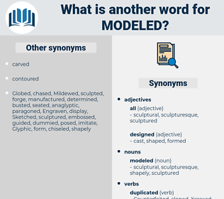 modeled, synonym modeled, another word for modeled, words like modeled, thesaurus modeled