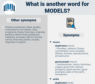 models, synonym models, another word for models, words like models, thesaurus models