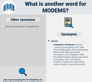 Modems, synonym Modems, another word for Modems, words like Modems, thesaurus Modems