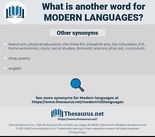 modern languages, synonym modern languages, another word for modern languages, words like modern languages, thesaurus modern languages