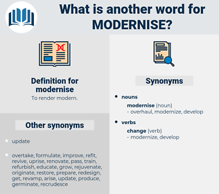 modernise, synonym modernise, another word for modernise, words like modernise, thesaurus modernise
