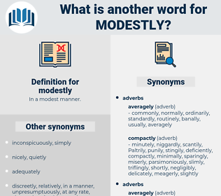 modestly, synonym modestly, another word for modestly, words like modestly, thesaurus modestly