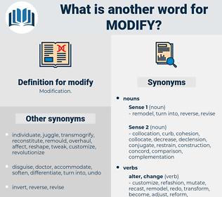 modify, synonym modify, another word for modify, words like modify, thesaurus modify