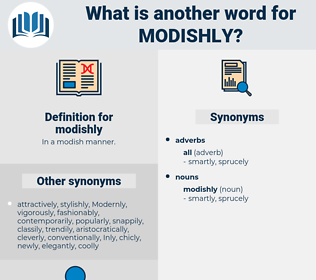modishly, synonym modishly, another word for modishly, words like modishly, thesaurus modishly