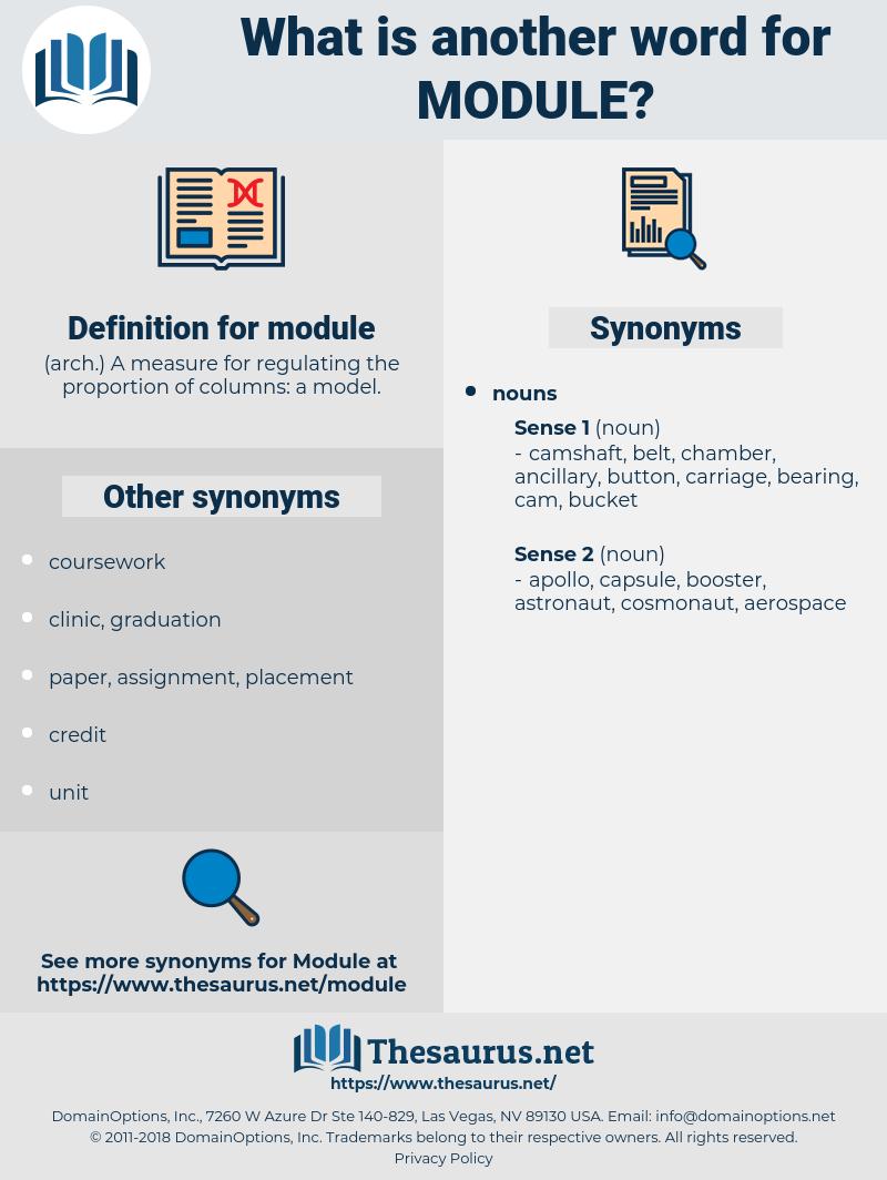 module, synonym module, another word for module, words like module, thesaurus module