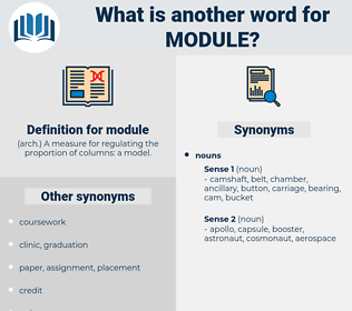 module, synonym module, another word for module, words like module, thesaurus module