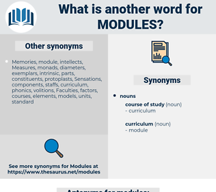 modules, synonym modules, another word for modules, words like modules, thesaurus modules