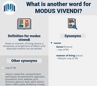 modus vivendi, synonym modus vivendi, another word for modus vivendi, words like modus vivendi, thesaurus modus vivendi