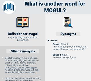 mogul, synonym mogul, another word for mogul, words like mogul, thesaurus mogul