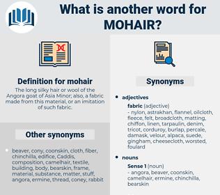 mohair, synonym mohair, another word for mohair, words like mohair, thesaurus mohair