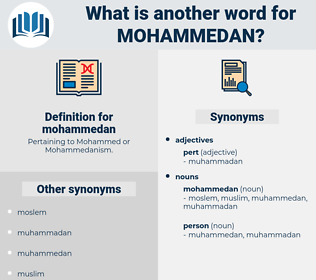 mohammedan, synonym mohammedan, another word for mohammedan, words like mohammedan, thesaurus mohammedan