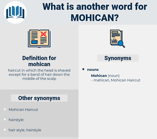 mohican, synonym mohican, another word for mohican, words like mohican, thesaurus mohican