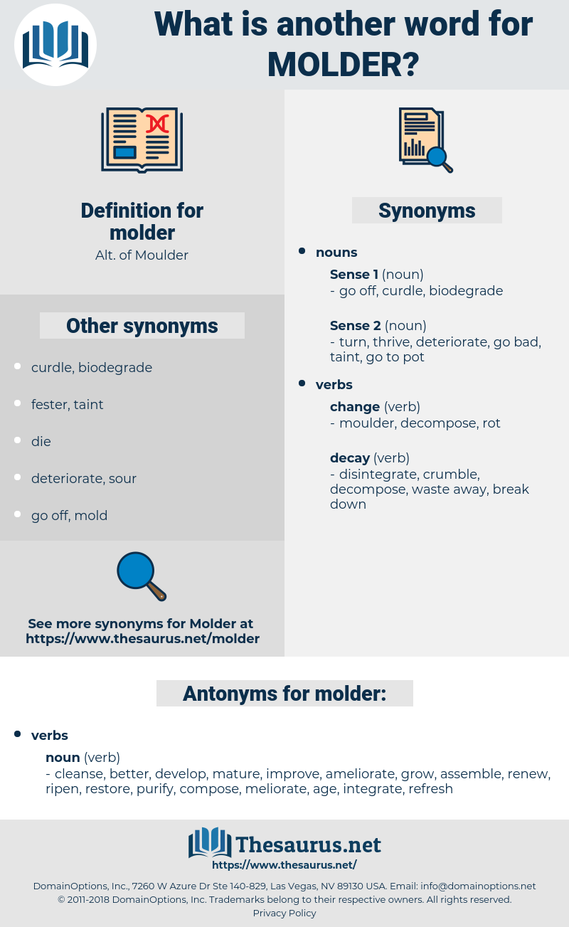 molder, synonym molder, another word for molder, words like molder, thesaurus molder