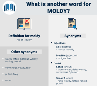 moldy, synonym moldy, another word for moldy, words like moldy, thesaurus moldy