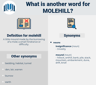 molehill, synonym molehill, another word for molehill, words like molehill, thesaurus molehill