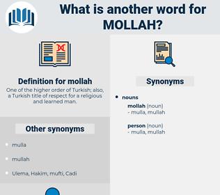 mollah, synonym mollah, another word for mollah, words like mollah, thesaurus mollah