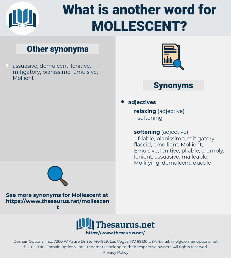 mollescent, synonym mollescent, another word for mollescent, words like mollescent, thesaurus mollescent