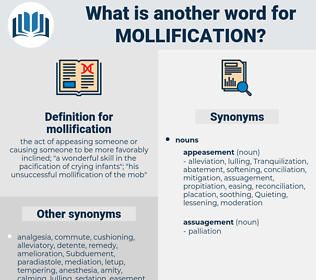mollification, synonym mollification, another word for mollification, words like mollification, thesaurus mollification