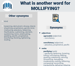 Mollifying, synonym Mollifying, another word for Mollifying, words like Mollifying, thesaurus Mollifying