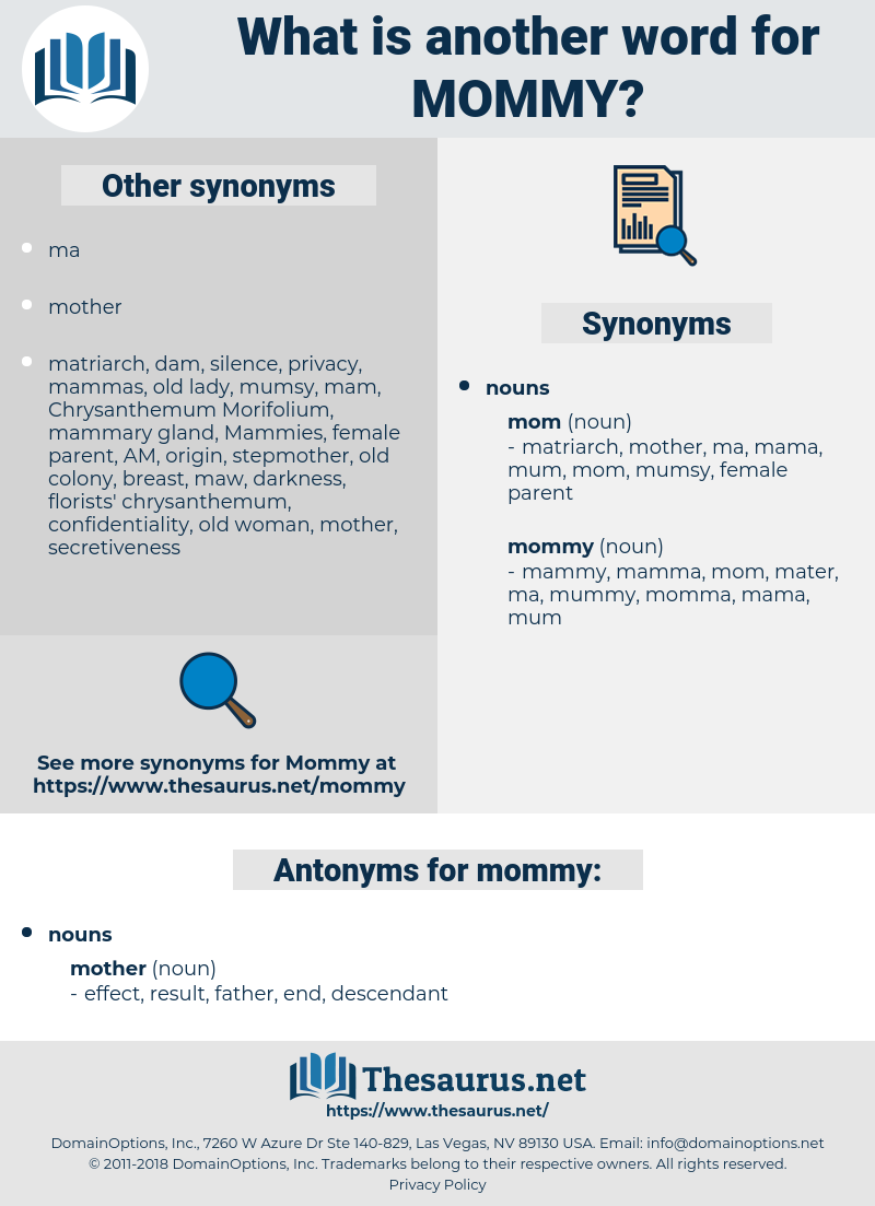 mommy, synonym mommy, another word for mommy, words like mommy, thesaurus mommy