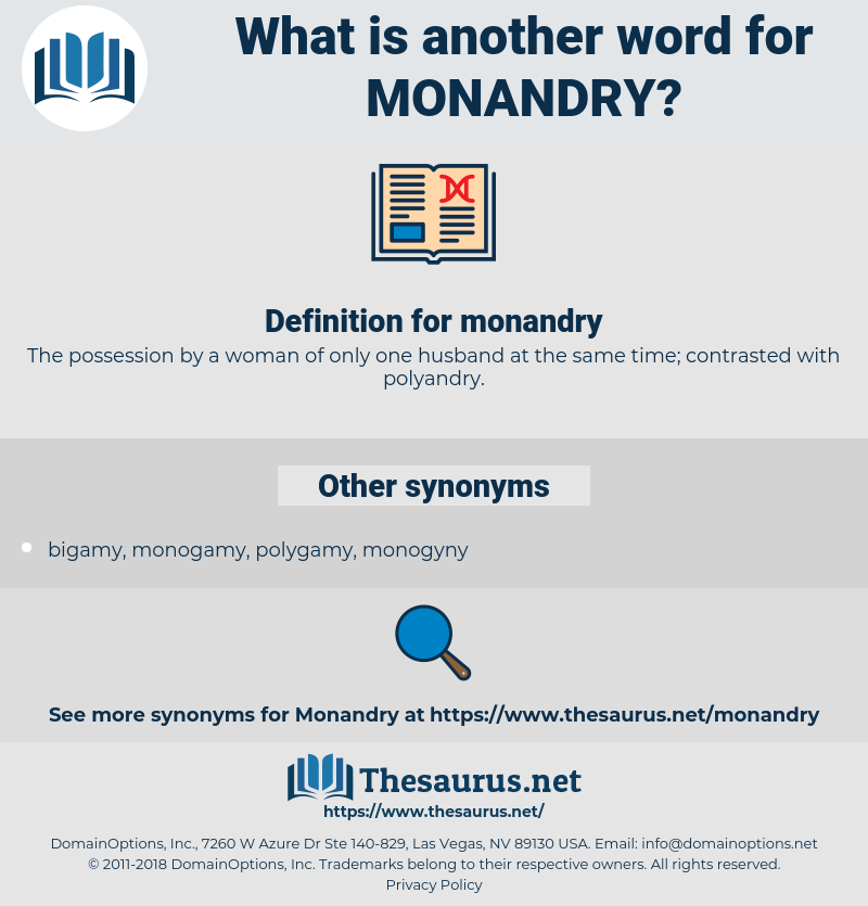 monandry, synonym monandry, another word for monandry, words like monandry, thesaurus monandry