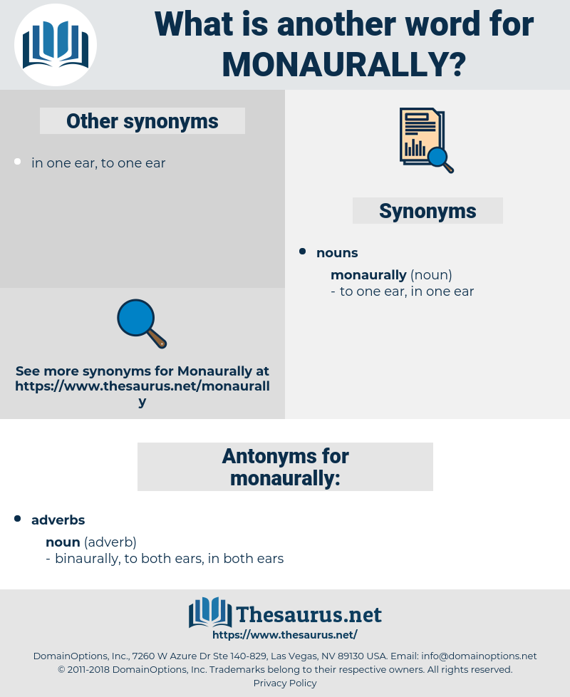 monaurally, synonym monaurally, another word for monaurally, words like monaurally, thesaurus monaurally
