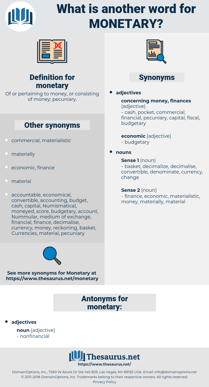 monetary, synonym monetary, another word for monetary, words like monetary, thesaurus monetary