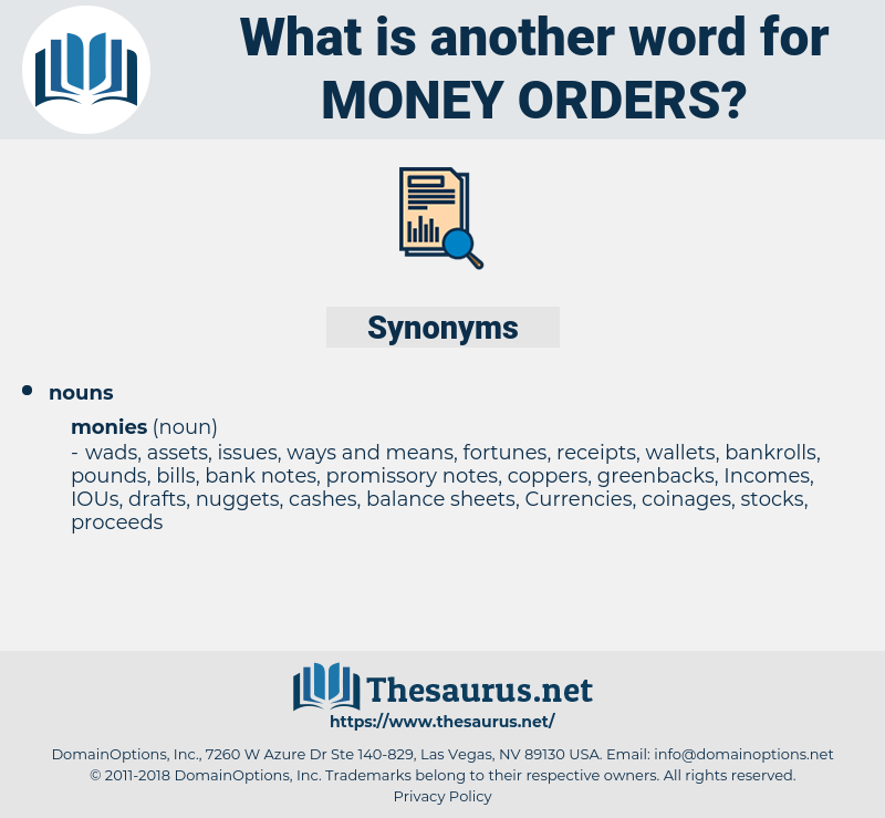 money orders, synonym money orders, another word for money orders, words like money orders, thesaurus money orders