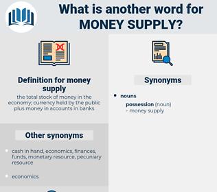 money supply, synonym money supply, another word for money supply, words like money supply, thesaurus money supply