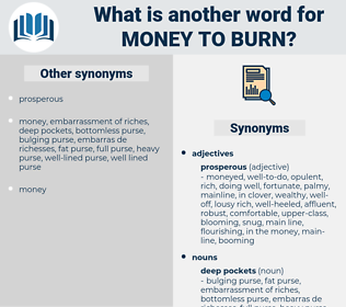 money to burn, synonym money to burn, another word for money to burn, words like money to burn, thesaurus money to burn