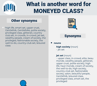 moneyed class, synonym moneyed class, another word for moneyed class, words like moneyed class, thesaurus moneyed class