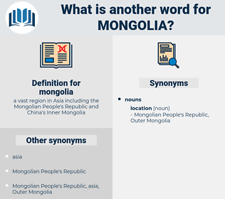 mongolia, synonym mongolia, another word for mongolia, words like mongolia, thesaurus mongolia
