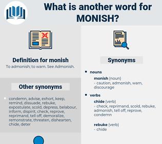 monish, synonym monish, another word for monish, words like monish, thesaurus monish
