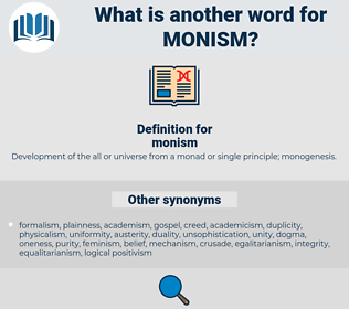 monism, synonym monism, another word for monism, words like monism, thesaurus monism
