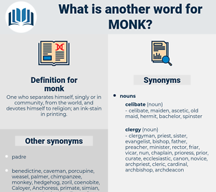 monk, synonym monk, another word for monk, words like monk, thesaurus monk