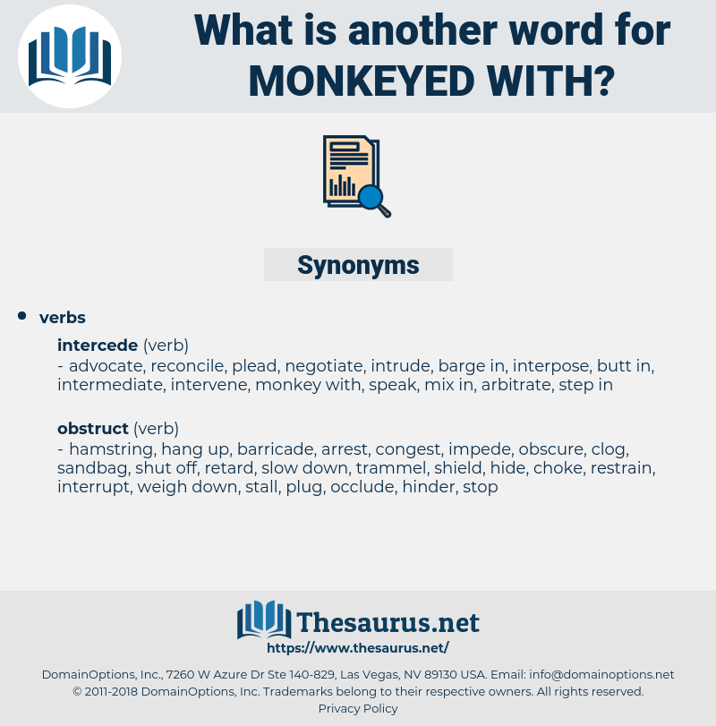 monkeyed with, synonym monkeyed with, another word for monkeyed with, words like monkeyed with, thesaurus monkeyed with