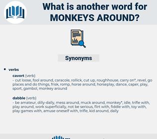 monkeys around, synonym monkeys around, another word for monkeys around, words like monkeys around, thesaurus monkeys around