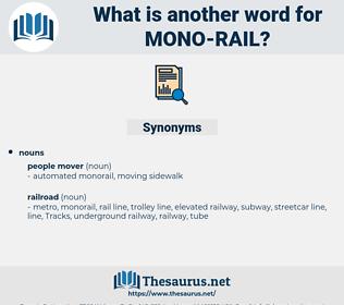 mono-rail, synonym mono-rail, another word for mono-rail, words like mono-rail, thesaurus mono-rail