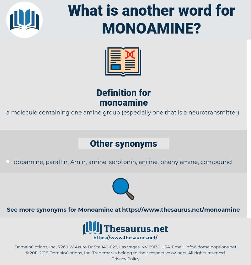 monoamine, synonym monoamine, another word for monoamine, words like monoamine, thesaurus monoamine