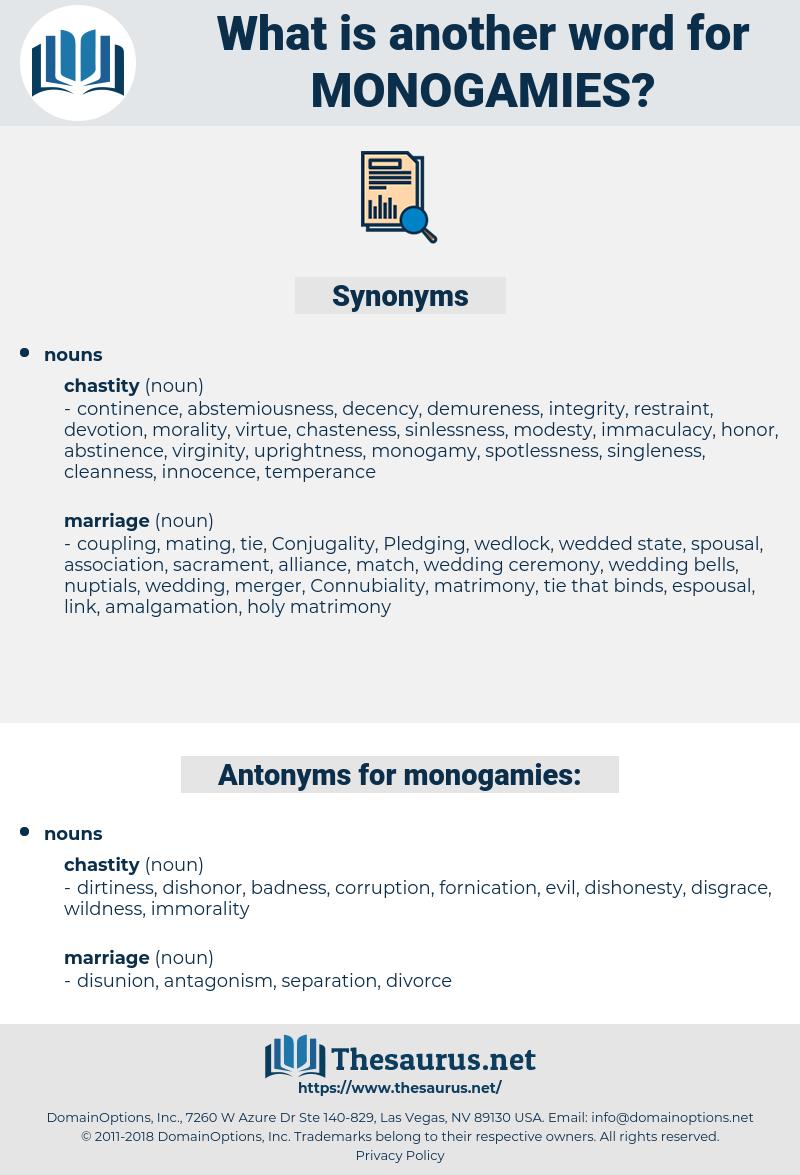 monogamies, synonym monogamies, another word for monogamies, words like monogamies, thesaurus monogamies