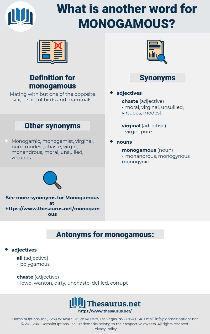 monogamous, synonym monogamous, another word for monogamous, words like monogamous, thesaurus monogamous